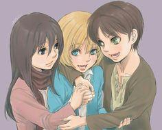 Armin | Eren | Mikasa | Shingeki no Kyojin |  Attack on titan | SNK