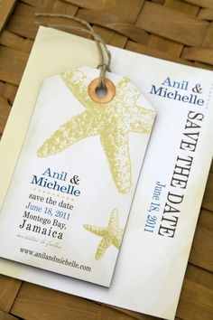 Luggage tag save the date magnets - idea for a destination wedding ...