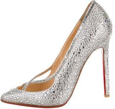 Christian Louboutin Super Vic Strass Pumps - 7112style.website -