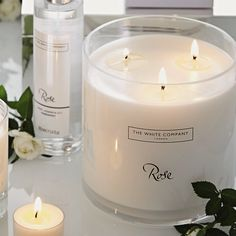 Rose Large Candle | The White Company