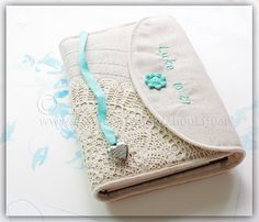 Bible cover Journal Cover crochetlinencotton custom by ZhouLijuan