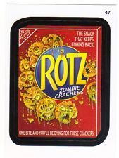 2015 Topps Wacky Packages Series One Sticker Card #47 Rotz Zombie Crackers