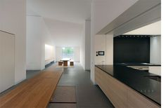 Kitchen inside the Casa delle Bottere by John Pawson. Photo by Marco Zanta.