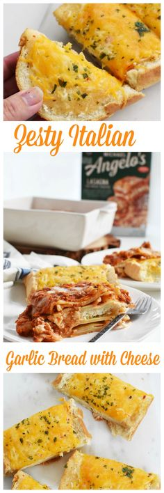 Zesty Italian Garlic Bread With Cheese Recipe. Perfect for Lasagna