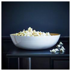 IKEA - RUNDLIG Serving bowl white bamboo,