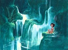 I love concept art from the Jungle Book. It looks better than the movie.
