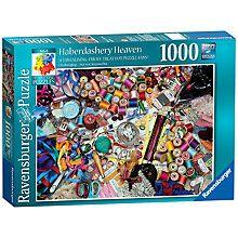 Buy Ravensburger Haberdashery Heaven 1000 Piece Jigsaw Puzzle Online at johnlewis.com
