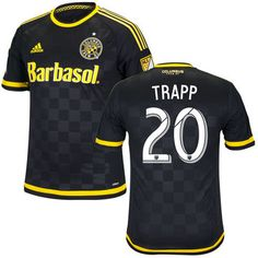 Men's Columbus Crew SC Wil Trapp adidas Black 2016 Authentic Crew SC Black Jersey