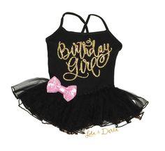 BIRTHDAY GIRL Leotard Tutu Dress