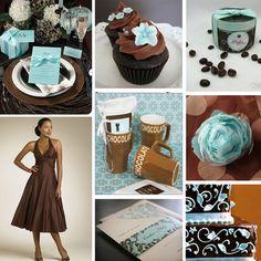 wedding color schemes | Brown Wedding Colors
