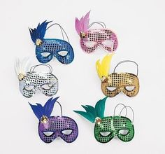 Feathered Sequined Mardi Gras Masks (1 dz) * Check this awesome product by going to the link at the image.