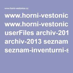 www.horni-vestonice.cz userFiles archiv-2013 seznam-inventurni-soupisu.pdf Archive