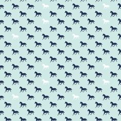 Derby Style Fabric by Melissa Mortenson for Riley Blake Designs - preppy horses in blue