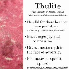 Thulite crystal meaning