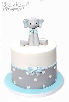 Simple Baby Shower cake! #BabyElephantcake #babyshowercakeideas #simplebabyshowercakes #elephantbabyshowercakes