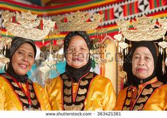 Tuaran Sabah Malaysia-Jan 17, 2016:Bajau ladies in traditional costume  during festival.Bajau tribe among the biggest tribe in Sabah is famous with striking costume colors.