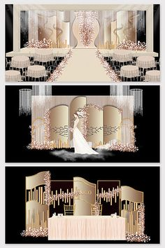 Over 1 Million Creative Templates by Pikbest Beautiful champagne color European wedding effect picture Wedding Backdrop Design, Wedding Stage Design, Wedding Stage Decorations, Wedding Ceremony Backdrop, Backdrop Decorations, Wedding Mandap, Wedding Designs, Wedding Table, Wedding Ideas