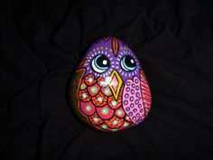 Handpainted Owl Pebble - Ideal Paperweight