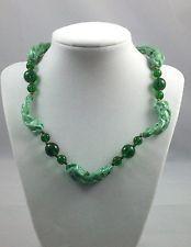 ***Miriam Haskell*** Vintage Green Glass Chocker!
