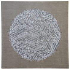 Owen Schuh: Notebook 01 Hive (Starting from a single cirlce place each new circle as close to the first as possible - diameters - 2 and 2.5 cm,