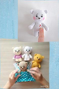 Diy Teddy Bear, Small Teddy Bears, Bear Toy, Diy Crochet Amigurumi, Crochet Toys, Knitted Animals, Easy Crochet Patterns, Crochet Gifts, Crochet For Kids