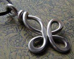 Big Celtic Cross Pendant - Loopy Bliss - Light Weight  Aluminum Wire. $12.50, via Etsy.
