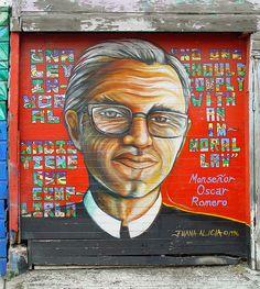 Mural: Monseñor Oscar Romero by Juana Alicia photo by Franco Folini