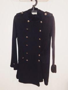 Manteau noir basic Zara Vinted