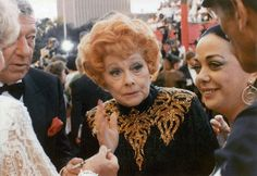 Lucy looking lovely at the Academy Awards in 1989 (her last public appearance)