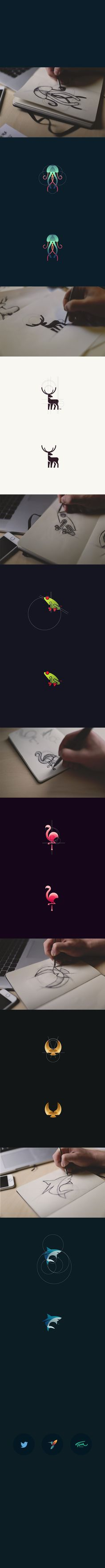Animal Logos Vol 2 Art Direction, Branding, Graphic Design