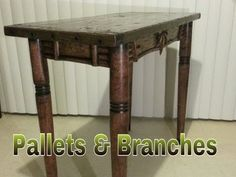 (4) Pallet Furniture - Re-claimed Table - $50 Wood Shop - YouTube