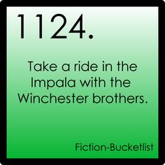 Take a ride in the Impala with the Winchester brothers. - Supernatural