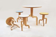 Twig table and chairs: made from stratified beech wood Other Space, Table And Chairs, Concept, Studio, Wood, Product Design, Furniture, Challenges, Spaces