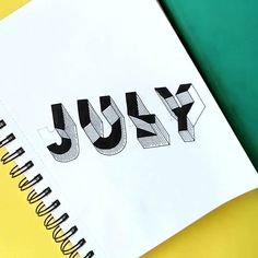 July cover page timelapse for bullet journal Bullet Journal Cover Ideas, Bullet Journal Books, Bullet Journal 2020, Bullet Journal Aesthetic, Bullet Journal Ideas Pages, Bullet Journal Inspiration, Art Journal Pages, Bullet Journal Christmas, Journal Fonts