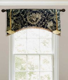Arched Trumpet Rod Pocket Valance Fabrics to Choose) Arched Window Treatments, Custom Window Treatments, Arched Windows, Window Coverings, French Country Rug, French Country Kitchens, French Country Decorating, Tuscan Kitchens, French Farmhouse