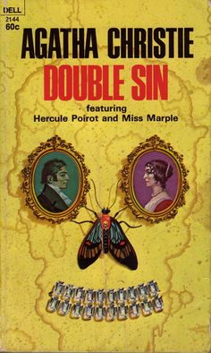 Double Sin by Agatha Christie.  Dell edition.  Illustration by William Teason.