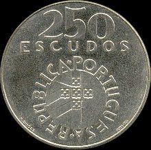 250 Escudos - Prata, 1976