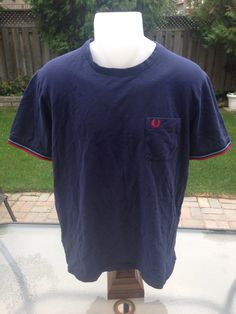 New to MajorDivision on Etsy: Vintage Navy Blue Fred Perry Pocket T-Shirt (15.00 CAD)