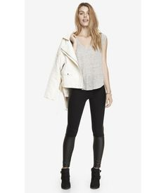 The perfect leather pants for the girl who's not ready to go full leather. Fall wardrobe staple!