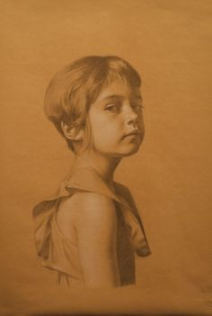 I think this is wonderful. Portrait drawing of Rose by Brett Edenton