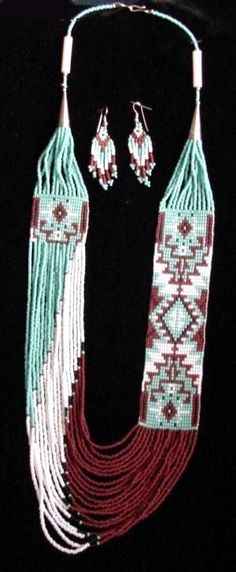 Image detail for -Navajo Rena Charles 20Str Rug Pattern Glass Beads Necklace - Beads ...