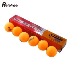1 boxes 6 Pcs 3 stars DHS Ping Pong Balls 40MM Table Tennis Orange Yellow For Competition Professional #CLICK! #clothing, #shoes, #jewelry, #women, #men, #hats