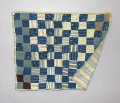 BLUE AND WHITE DOLL QUILT