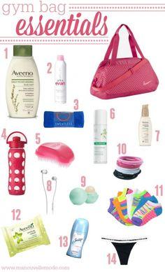 Gym Bag Essentials - Ma Nouvelle Mode