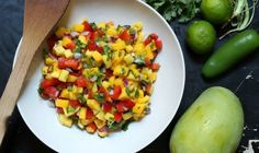Want to make #salsa this #weekend? How about this #Indian Mango Salsa #recipe?