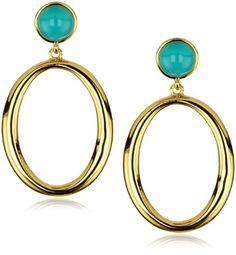 Trina Turk Athena Hoop Gold Earrings In Aqua Trina Turk http://www.amazon.com/dp/B004I8V4KA/ref=cm_sw_r_pi_dp_oaghvb14JZ9G4