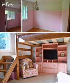 Why, you ask, would we ever paint Grace's beautiful pink room?   There were two reasons.   1. The room was so carefully color-matched to the quilt, the color palette....