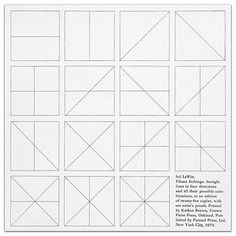 Sol LeWitt, Straight Lines in Four Directions & All Their Possible Combinations