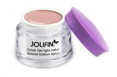 Cover Gel natur: Jolifin Special Edition 4plus Make-Up Cover Gel light natur 15ml bei German Dream Nails