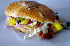 The Sinful Sub - Turkey, Ham and Bacon with Garlic Herb Cheese #dixiechikcooks @cabotcheese @snakeriverfarms